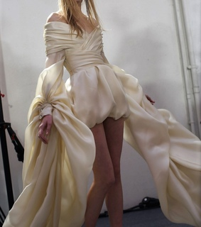 dress, backstage and couture