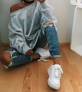 jeans, nike and sport