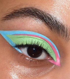 pastel, green and pink