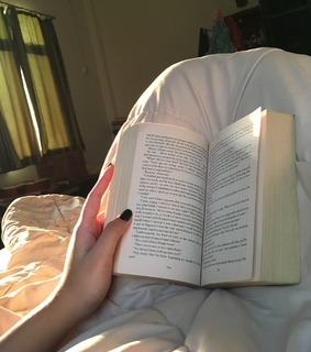 bed, asthetic and novel