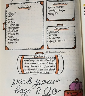 packing list, pinterest and check list