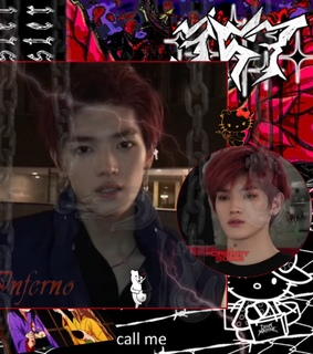 nct, kpop and goth edit