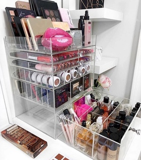 makeup, organization and beauty room
