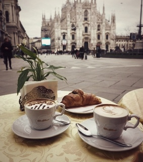morning, sweets and latte