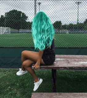 hair styles, green and tumblr