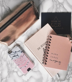 rose gold, studying and college