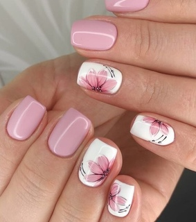 nails, flowes and blossom
