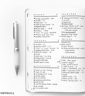 journal, pen and list