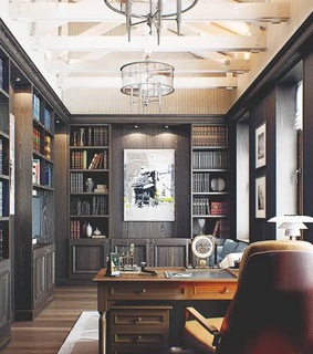 for him, modern and library