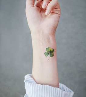 tattoo, clover and green