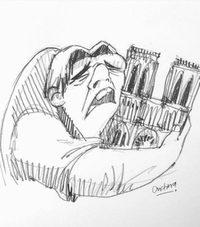 quasmodo, paris and sad