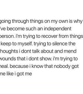 self love, silence and keep to myself