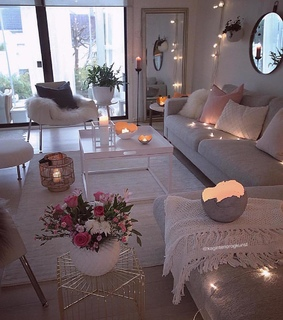 candles, white and maison