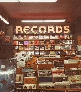 aesthetic, records and 90s
