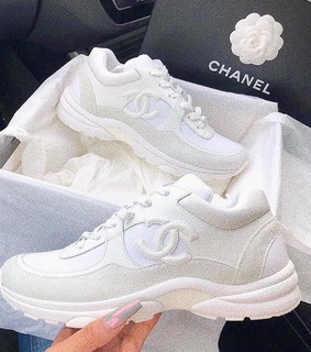chanel shoes, aesthetic and chunky sneakers