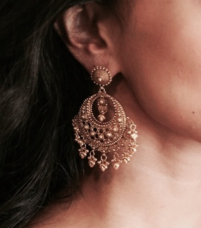 earing, gold and beautiful