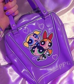 purple, powerpuff and 90s