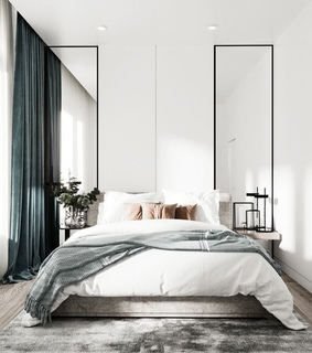 minimalism, curtain and modern