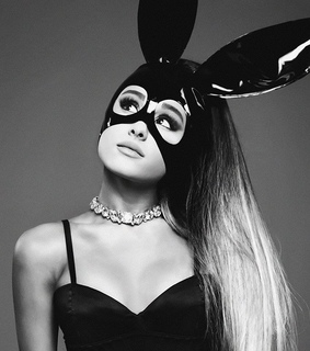 dangerous woman, ponytail and bunny ears