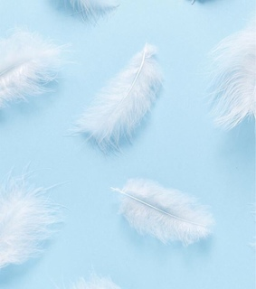 baby, feather and pattern