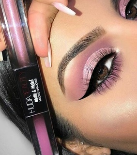 purple, shine and lashes