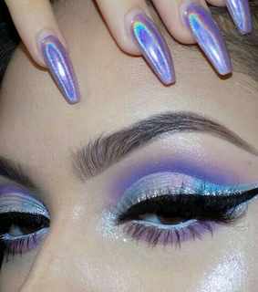 maquillaje, tumblr girl and holographic