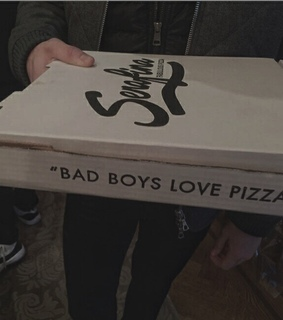 boyfriend, pizza and badass