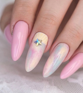 colorfulnails, colorful and pink nails