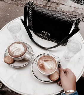 coffee time, aesthetic and bag