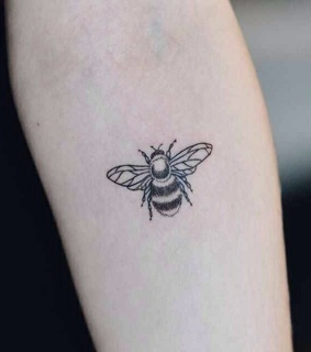 bee, black and tattoo