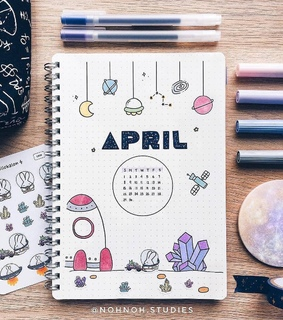 bullet journal, journal and april