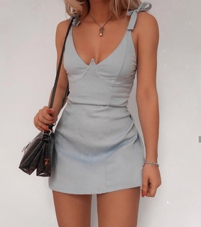 necklace, bodycon and gray