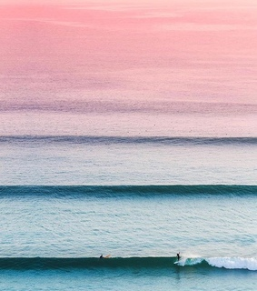 summer, surf and pink