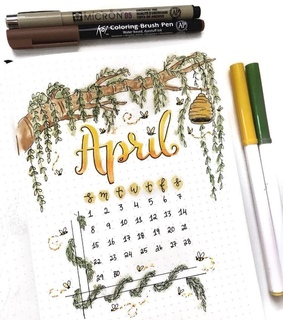april, draw and bee