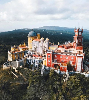 travel, drone and portugal