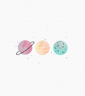 planets, solar system and moon