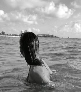 girl, water and sea
