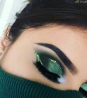makeup green, beauty and maquillaje