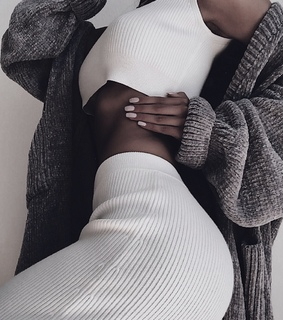 nails, knit and sweater