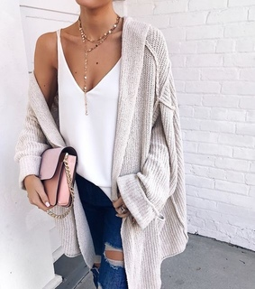 cozy, necklace and white
