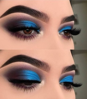 brows, blue and cute
