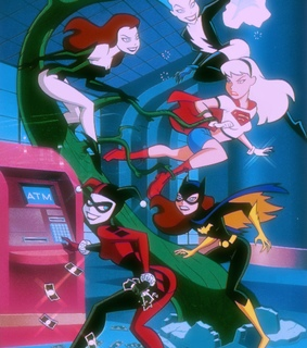 justice league, catwoman and poison ivy