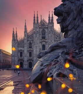 cathedral, cities and milan