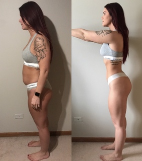 before and after, body and diet