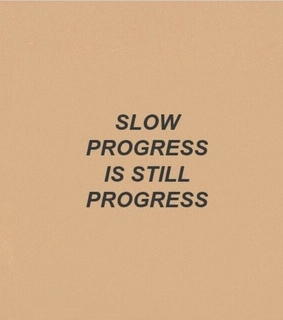 progress, quotes and text