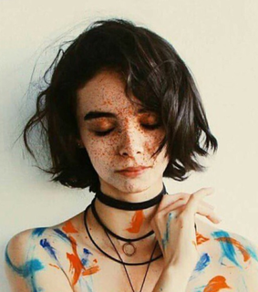 paint, girl and collar