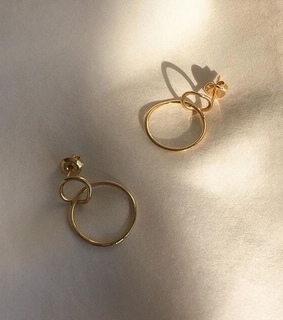 boucle d'oreilles, Or and earings