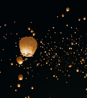 lanterns, lights and floating