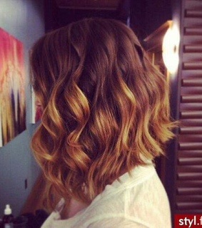 beauty, bob and curly hair