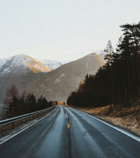 mountains, sunset and travel